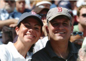 New Hampshire Republican Kelly A. Ayotte with her husband Joseph Daley. (Courtesy)